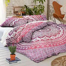 Indian Cotton Mandala Reversible Ombre Bedding Duvet Doona Cover Queen Blanket