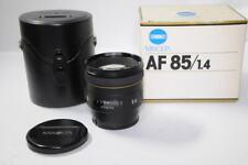 [ Near Mint Boxed ] Minolta AF 85mm f/1.4 G for Sony / Minolta A Mount Lens