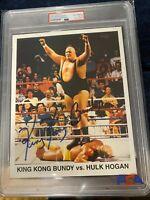 KING KONG BUNDY Signed 8x10 Photo PSA/DNA Certified and SLABBED Hulk Hogan