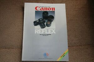 Canon camera and lens brochure 1984. Very good condition.