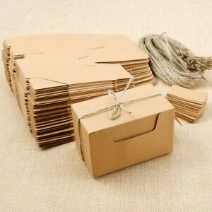 50 x Kraftpapier Geburtstag Geschenkbox Geschenkschachtel Geschenkpackung