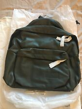 Brand New wrapped NEVER USED Eastpak Pak'r 100% Green Leather Backpack Rucksack
