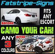 FORD ESCORT GRAPHICS CAMO KIT STICKERS DECALS STRIPES BONNET ROOF CAMOUFLAGE RS