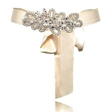 TEMPERLEY LONDON Crystal Ivory, pearl and beaded Small Beatrice belt RRP £475