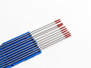 Red 2% Thoriated Tig Welding Tungsten Electrode 1.0mm to 3.2mm Steel & Stainless