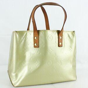 Auth LOUIS VUITTON READE PM Hand Bag Purse Monogram Vernis Leather M91145 Gris