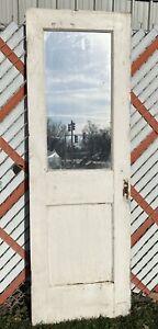 "c1900 Victorian Era Pantry Cellar Door Mirror 71.25"" x 23.5"" x 1.5"" Shabby Chic"