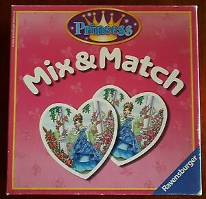 Ravensburger Princess Mix & Match Game (2006) – Heart-Shaped Cards - COMPLETE