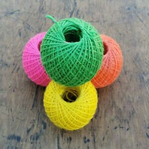 SALE! 1x Neon Jute Twine Ball - cord for use around the home and garden (mi)