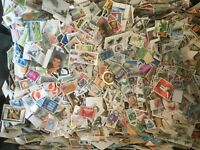 100g ALL WORLD OFF PAPER COLLECTION / MIXTURE STAMPS kiloware new stock