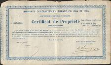 Emprunts Contractés en 1864 et 1865 par le GOUVERNEMENT IMPÉRIAL DU MEXIQUE  (R)