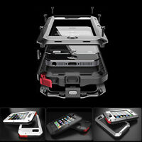 NEW Waterproof Metal Gorilla Glass Case For iPhone 6S 4S 5S 5C 6 Samsung S4/5/6