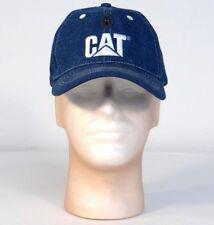 CAT Caterpiller Head Lite Blue Denim Baseball Cap Hat LED Light Adult One Size
