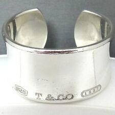 Tiffany & Co 1837 Sterling Silver Wide Cuff Bracelet