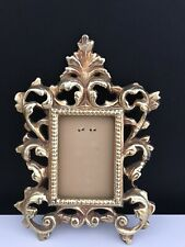 Vintage Gilded And Ornate Victorian Metal Mini Frame, Excellent Condition
