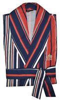 Nero Perla Men's Multi Color Striped Cotton Robe Lounge Wear Sleepwear