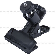 """Adjustable Metal Clip Clamp Holder Mount With Ball Head 1/4"""" Screw For Camera GW"""