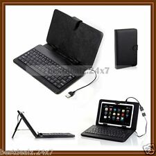 "New Universal Keyboard PU Leather Cover Case Stand for All 7 "" Inch Tablet Phone"