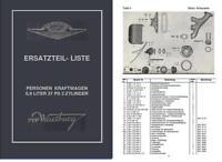 Ersatzteilliste Ersatzteilkatalog Wartburg 311 Fortschritt IFA kein Lada DDR