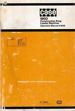 Case 580D Loader Backhoe Tractor Operator's Manual