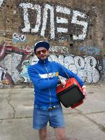 Sieger'84 DDR Sportjacke 80s Trainingsjacke TRUE VINTAGE blue sport jacket Gr.48