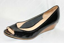 Cole Haan Air Tali OT Black Patent Leather Wedges Women 10 B