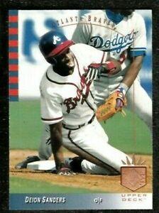 1993 SP #62 DEION SANDERS Baseball Milwaukee Brewers COMB SHIP