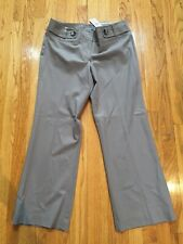 NWT Ann Taylor Taupe Signature Fit Bootcut Pants 12P
