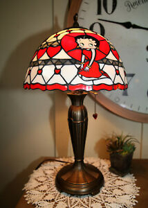 Danbury Mint, Betty Boop, Character, Stained Glass Lamp, Vintage, (KR 662)-#1