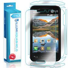 2x iLLumi AquaShield Front Screen + Back Panel Protector for LG Optimus Zone 2