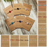 Fashion Friendship Wish Heart Star Rope Bangle Bracelet Couple Card Jewelry Gift