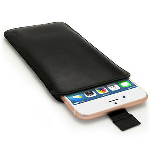 """Leather Pouch Case Sleeve for Apple iPhone 8, 7, 6S & 6 Plus 5.5"""" Skin Cover"""