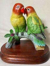 Lovebirds by Andrea by Sadek 7597 Porcelain 1986