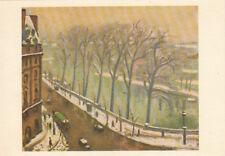 PARIS tableau laboratoire Augot YZEURE quai conti sous la neige écrite