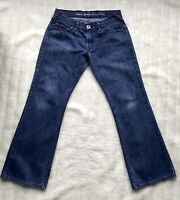 Guess Jeans Sz 31 L 29 uk 10 12 Montara Blue Wash Slightly Distressed Bootcut