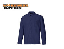Camisas y polos de hombre de manga larga en azul de poliéster