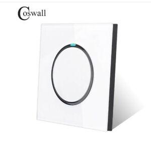 Coswall 1/2/3/4 Gang 1 Way Luxury Light Switch 12V-250V