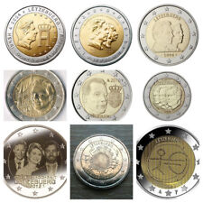 2 Euros Luxemburgo  2004, 2005, 2006, 2007,2008, 2009,2010, 2011, 2012TYE y boda