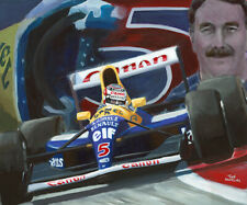Canvas 1992 Nigel Mansell (GBR) World Champion Formula 1 by Toon Nagtegaal LE
