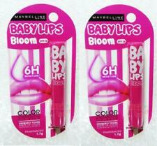 2 x MAYBELLINE LIP SMOOTH BLOOM COLOR CHANGING LIP BALM SPF 16 # PINK BLOSSOM