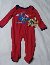 DC SUPER hero's 6-9 months footed sleeper red new with tags