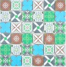 Glasmosaik Retro mehrfarben Wand Küche Dusche Bad  160-0909  10 Matten