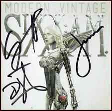 SIXX: A.M Modern Vintage Signed By All 3 Members CD Booklet +FREE Stickers AM