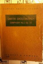 Schostakowitsch Symphonie Nr 1 Taschenpartitur