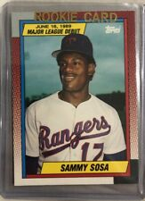 1989 Topps Debut SAMMY SOSA Rookie Texas Rangers (#120) TRUE RC  Shipped PWE