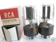 2 matched 1965 RCA 12SN7GTA tubes - Black Plates, Bottom [ ] Getter