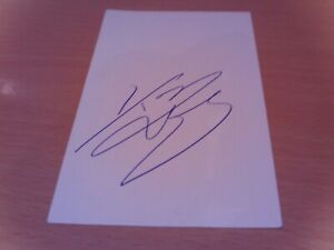 signed card of ex leeds utd leicester city middlesbrough footballer tommy wright