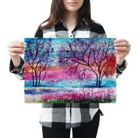 A3 - Pretty Tree Painting Art Poster 42X29.7cm280gsm #2332