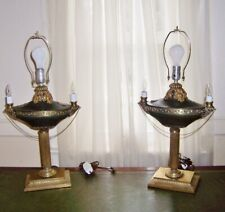 antique pair French Empire Bronze candle lamp urn Lamps  Pair  2 color