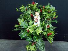 Child Angel Winter/Christmas Cemetery Flower Headstone/Tombstone Vase Bush